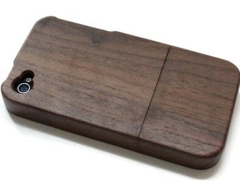 Iphone 4 case / iphone 4S case wood - wood Iphone 4 case bamboo, cherry and walnut wood