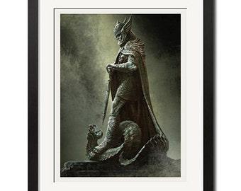 The Elder Scrolls Skyrim Shrine of Talos Poster Print