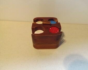 Small Wooden Poker Chip Holder