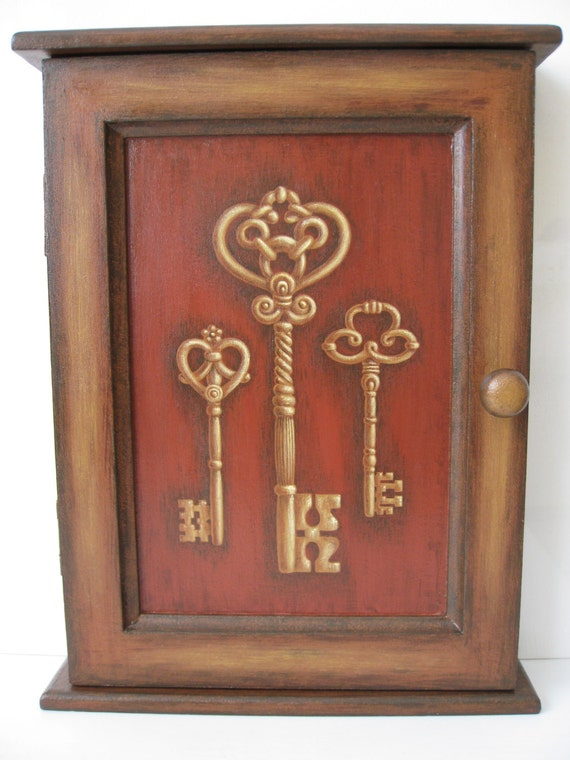 Key cupboard cabinet holder wall