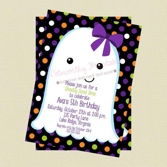 Ghost Halloween Invitation Halloween Party Invitation