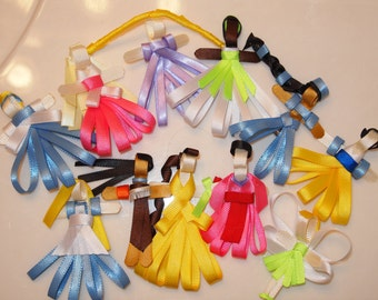 Disney Inspired Princess Ribbon Sculptures: Pick 1,3,5,8, or all Characters