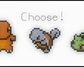Starter Pokemon Cross Stitch Pattern Charmander Bulbasaur Squirtle