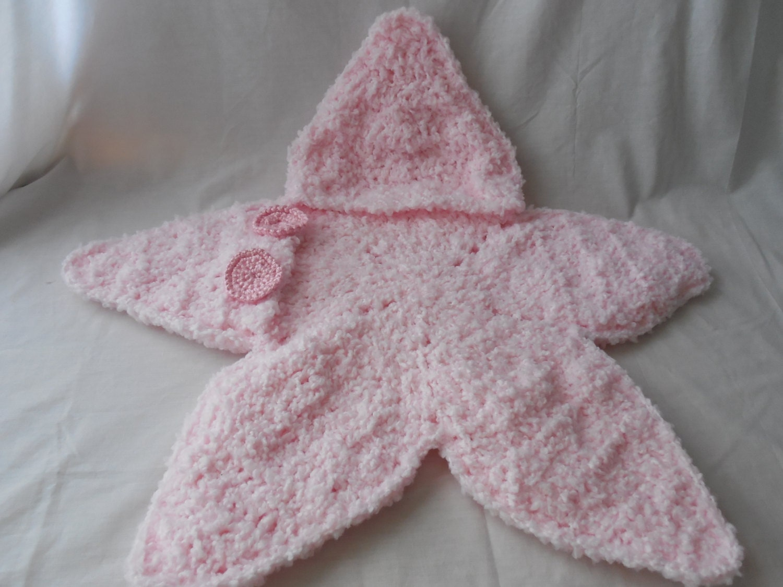 Free Crochet Pattern Bunting Bag : Baby Bunting Bag Pink Star Bunting Handmade Crochet