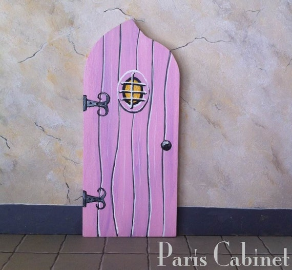 Items similar to pink fairy door tooth fairy door for Pink fairy door