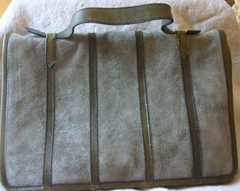 Nordstrom 1970's Suede & leather purse - Messenger Style