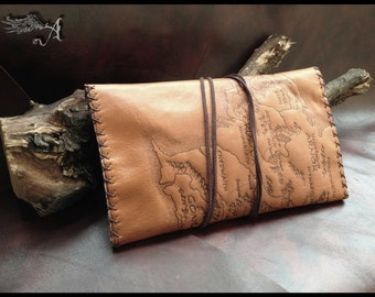 Genuine Leather Marauders Map Harry Potter Deathly