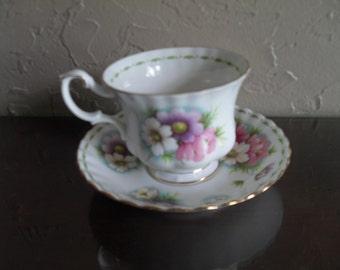 Royal Albert Cosmos cup saucer fine bone China cup & saucer set