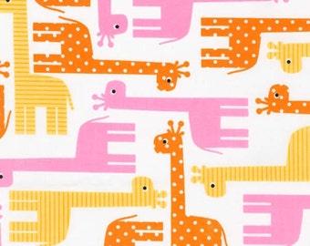 Urban Zoologie Spring Giraffes - 1 yard - Ann Kelle for Robert Kaufman Fabrics
