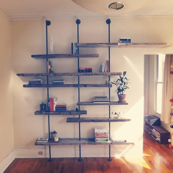 Reclaimed Wood Shelving Unit Customized For Each By