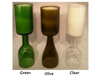 Wine Bottle Candle 14 oz Handmade Recycled Gift Choose Scent