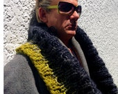 Deep Rib Knit Collar Cowl - Knitting Pattern - Chunky Cowl - StevenBe