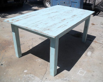 Reclaimed wood kitchen dining table.  USA made.