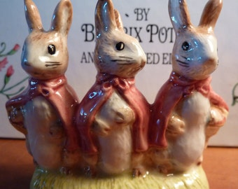 Vintage Beatrix Potter FLOPSY MOPSY And COTTONTAIL 1989