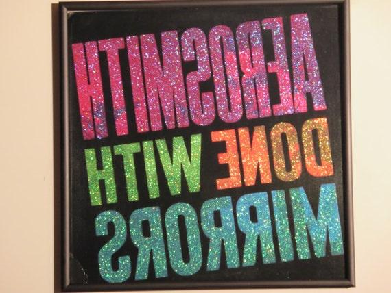 Glittered Record Album - Aerosmith - Down With Mirrors