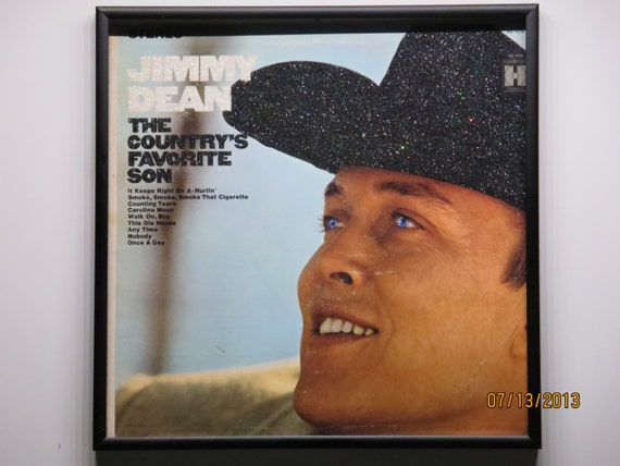 Glittered Record Album - Jimmy Dean - The Country's Favorite Son