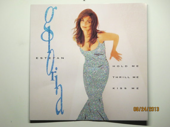 Glittered Poster - Gloria Estefan - Hold Me, Thrill Me, Kiss Me