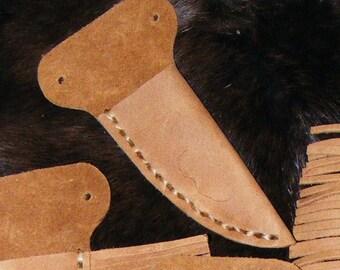 Light Brown Handmade Leather Neck Knife Sheath by Heidi Clauson