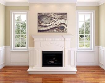 Tree Swirls - Canvas Gallery Wrap - Natural, Eco, Tree, Neutral, Decor, Wood, Bohemian, boho, earthy, home, Wall, tan, brown Hanging