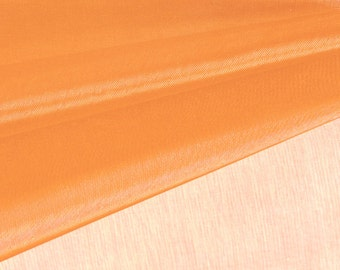 Orange Organza Fabric by the Yard, Wedding Decoration Organza Fabric, Sheer Fabric - Style 1901