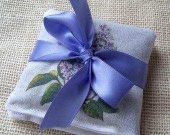 Lavender sachet, vintage lilacs set of 2