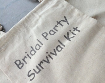 Bridal Party Survival Kit - Bags ONLY -  Wedding Party - Bridesmaid - Bride - Flower Girl - Matron of Honor