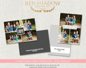 5x7 Christmas Card Template - A Very Modern Christmas  -  Photography business template - .PSD files - INSTANT download - cct BTS
