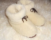 100% Sheep Wool SLIPPERS, New natural felt merino Boots, All Men's/Women's sizes, Hypo allergenic