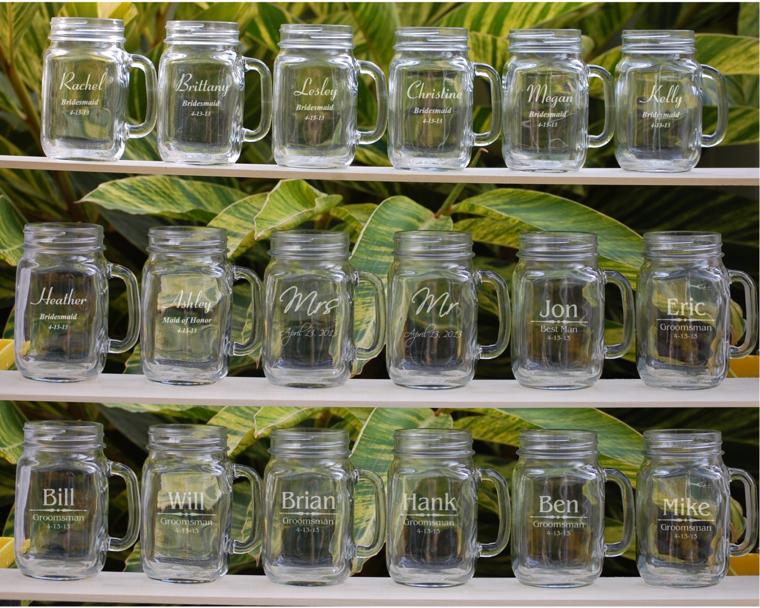 Mason Jar Wedding Gifts: 17 Wedding Party Gifts Wedding Party Favors Personalized