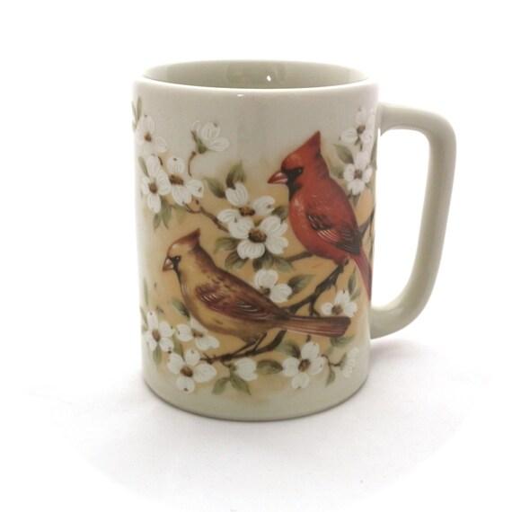Otagiri Japan Mug Bird Mug Red Cardinal Vintage Mug