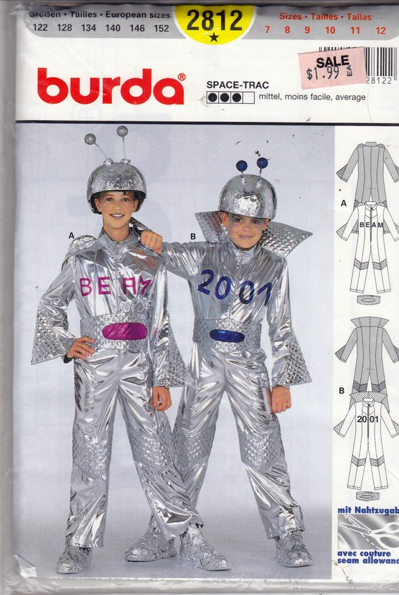 Uncut burda sewing pattern space costume space trac size 7 for Outer space outfit