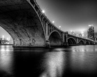Moody MPLS Night - Minneapolis, MN - Minneapolis Skyline Photography