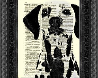 Dalmatian Dictionary Art Print, Buy 2 Get 1 Free, Wall Decor, Art Print, Dictionary Page Art, Home Decor