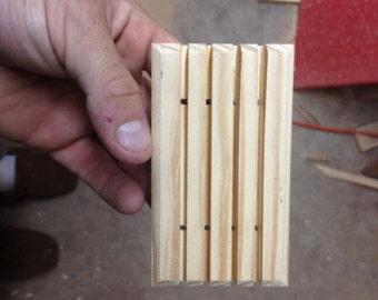 416 wooden soap dishes