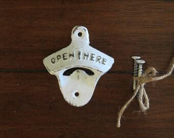 Pale Blue Bottle Opener / Cast Iron /Vintage Inspired / Mancave /Kitchen Decor/Gameroom/Patio/Groomsman Gift/Stocking Stuffer