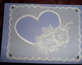 Handmade Cards suitable for Valentine,Wedding,Anniversary,Birthday.  Choice of colours and style