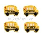 UNCUT  Back to School Bus felt applique embellishment hair bow center feltie(4)