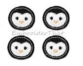 UNCUT RTS Penguin Face applique embellishments (4)