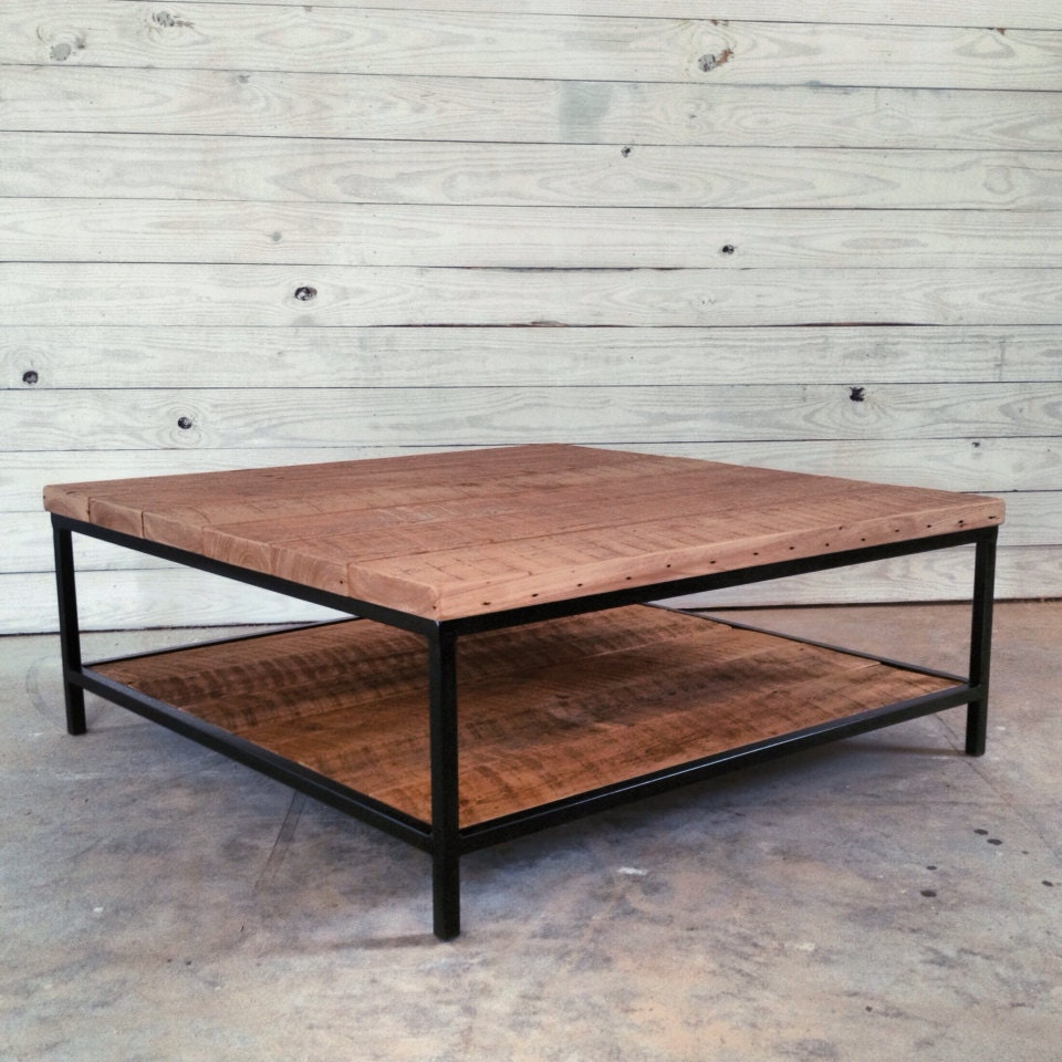 Etsy Round Coffee Tables: Reclaimed Wood Coffee Table