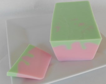 Angel Kisses Soap Loaf - One Pound Glycerin Soap Loaves - Pink and Green Soap - Perfume Dupe