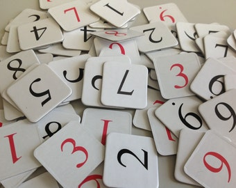 Number tiles chipboard