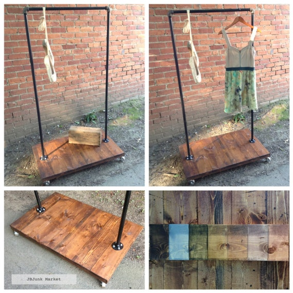 how to build a clothes rack with metal pipe