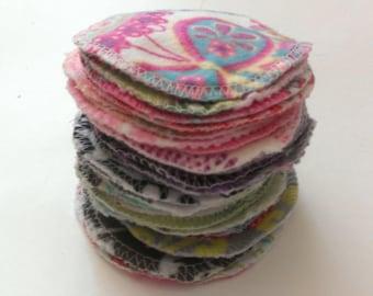 Reusable Cotton Rounds, Random Prints/Patterns, Washable Makeup Remover Pads,Facial Cleansing Rounds, Facial Scrubbies