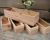 Custom Size Wood Planter, Any Size, Table Centerpiece, Flower Box, 12 Inch to 70 inch long, 6 inch height, Redwood, CUSTOM ORDER