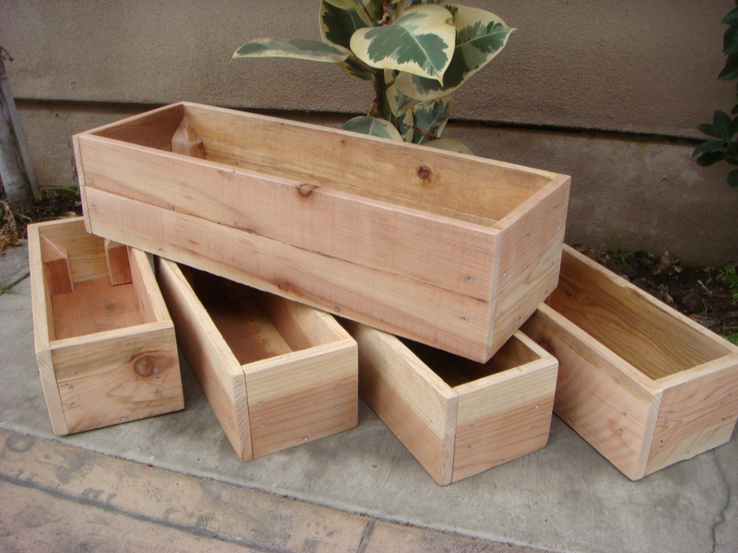 Custom Size Wood Planter Any Size Table by RedCedarWoodcraft