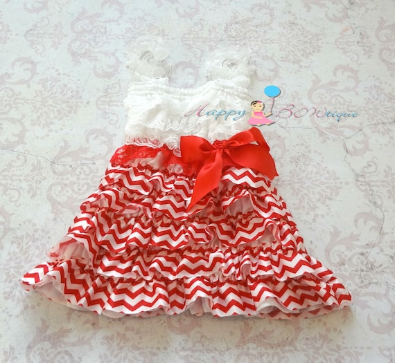 Valentines dress, Red Chevron Dress,baby dress,girls dress, red dress,flower girl dress,Chevron dress,Petti lace,Holiday Dress, Birthday