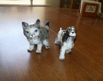 Vintage Dog and Cat Figurine