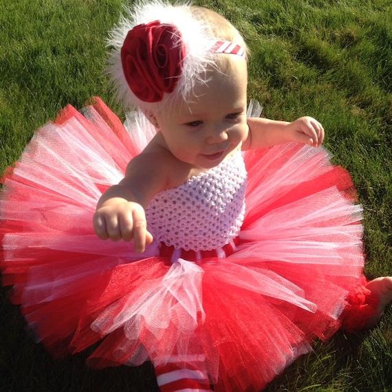 Candy cane princess tutu set red and white tutu set for Princess cane