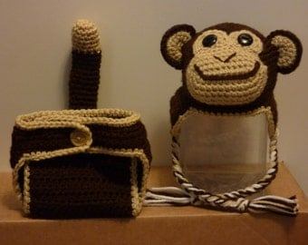Baby Monkey Costume and Photo Prop