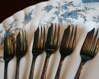Loxley Set of 6 Pastry forks from Sheffield England